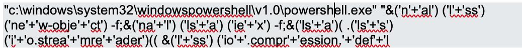 Dridex power shell command line